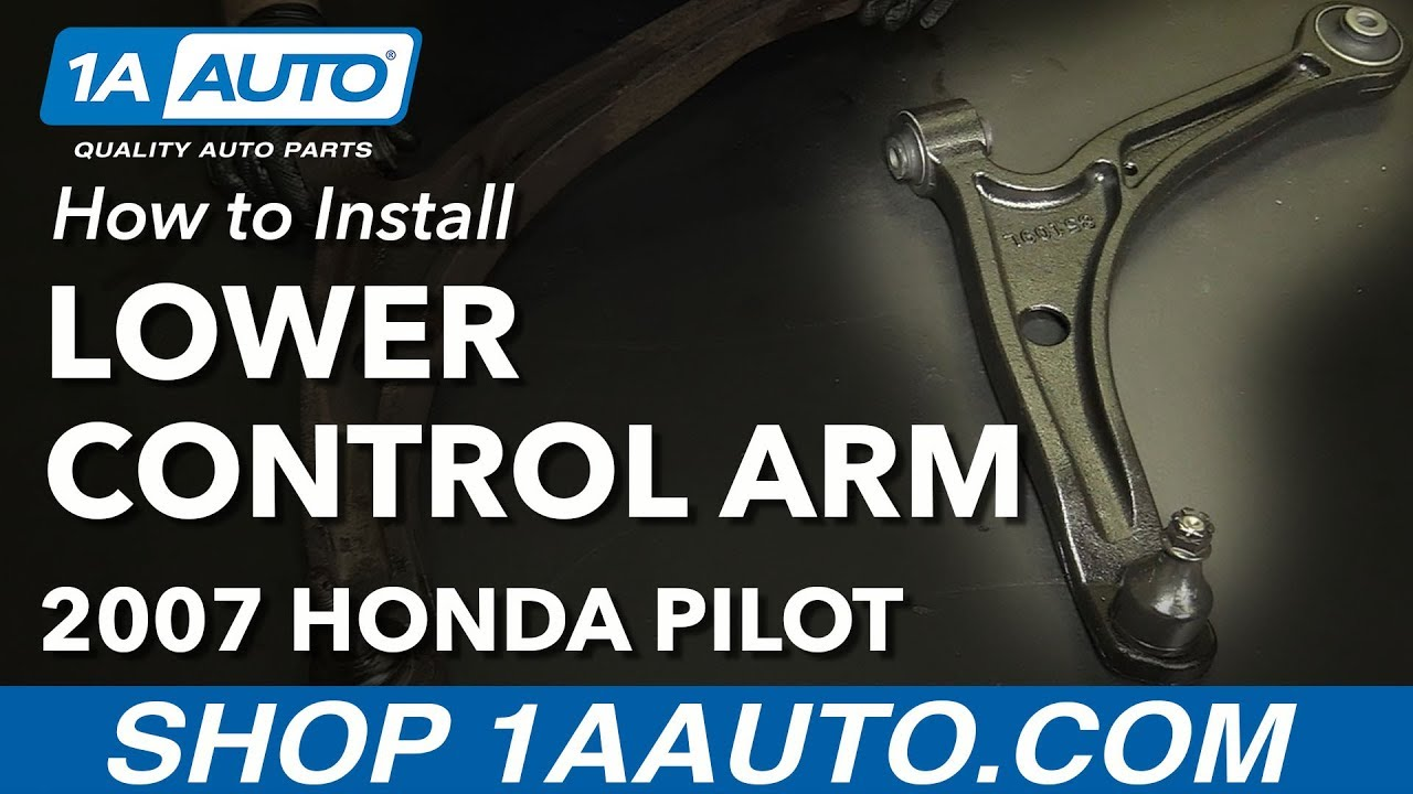 How To Install Replace Front Lower Control Arm 2003 08 Honda Pilot 2005 Acura Mdx Engine Diagram