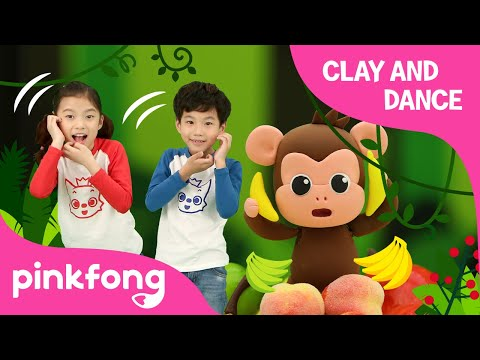 Monkey Bananas Dance and Make Monkey with Clay | Clay and Dance | Pinkfong Songs for Children