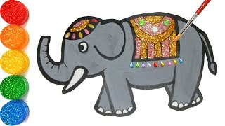 Gambar cover Elephant coloring and drawing, Toddlers | jelly blah art