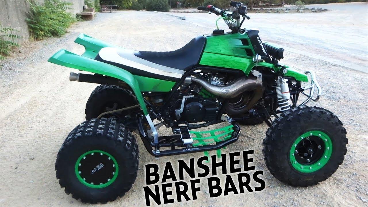 BANSHEE NERF BARS Pro Peg Heel Guard and Grab Bar Upgrades by Alba Racing
