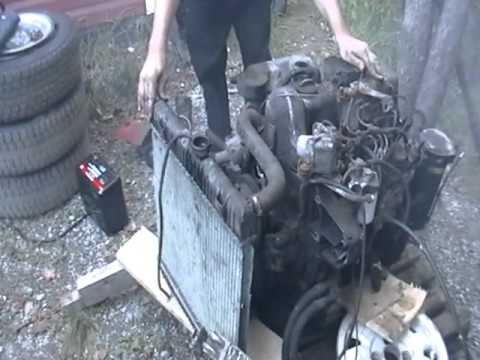 Diesel Engine Working >> Mercedes OM616 Diesel engine - YouTube