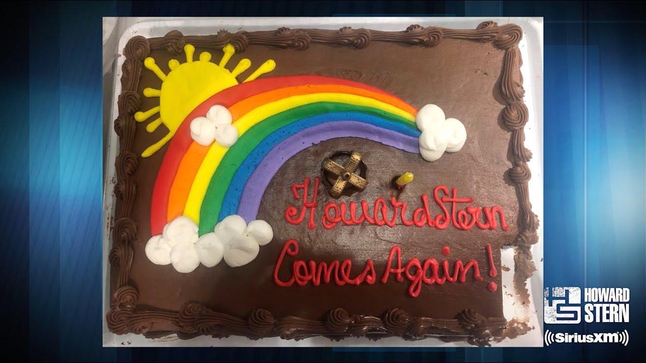 Gary Dell'Abate Eats Howard's Cake Early