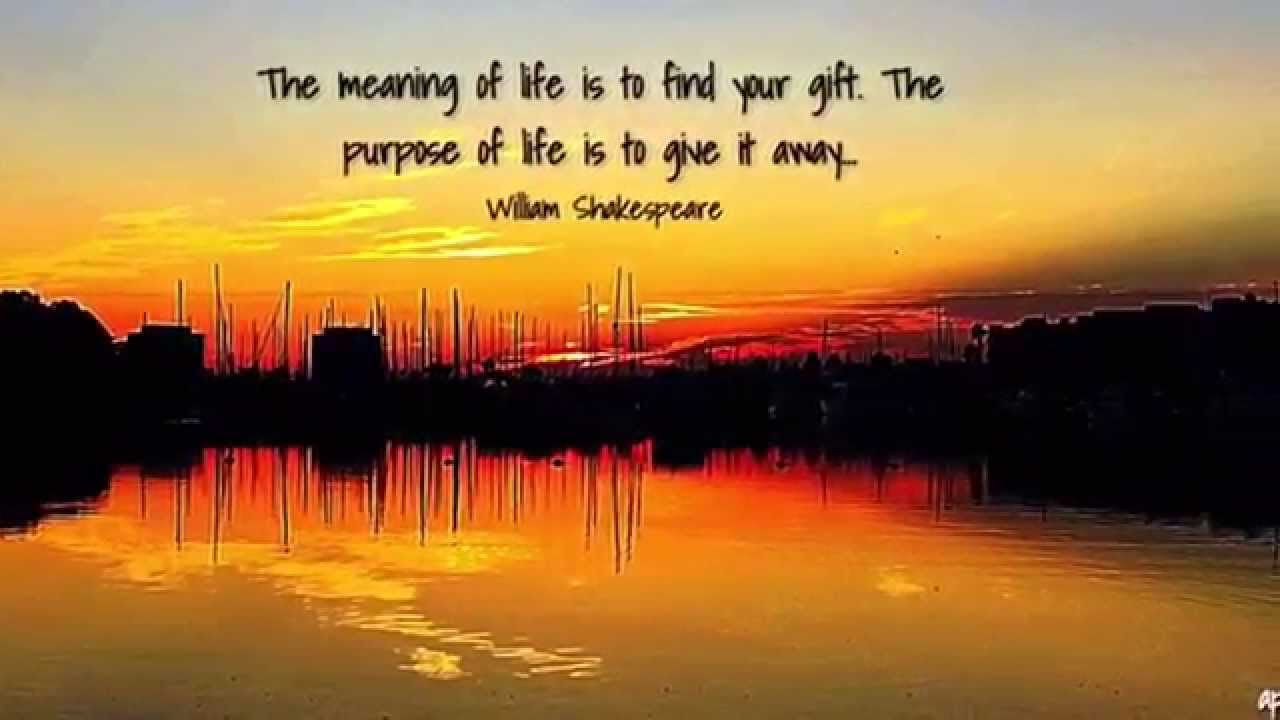 The meaning of life is to find your gift. The purpose of ... - photo#22