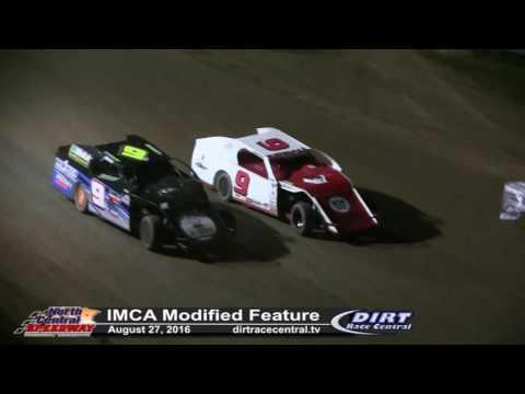 North Central Speedway 8/27/16 IMCA Mod Feature Don Eischens and Billy Kendall