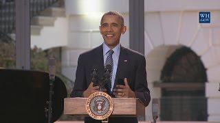 President Obama Speaks at the International Jazz Day Concert