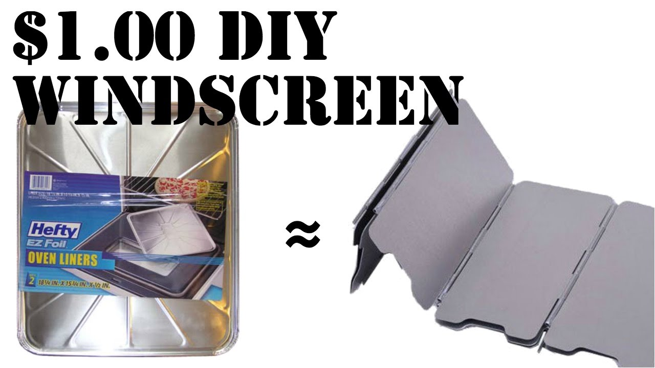 How to make a DIY 1 wind screen for camp stoves  YouTube