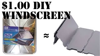 How to make a DIY $1 wind screen for camp stoves
