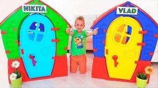Vlad und Nikita bauen Häuser! Videosammlung für die ganze Familie!