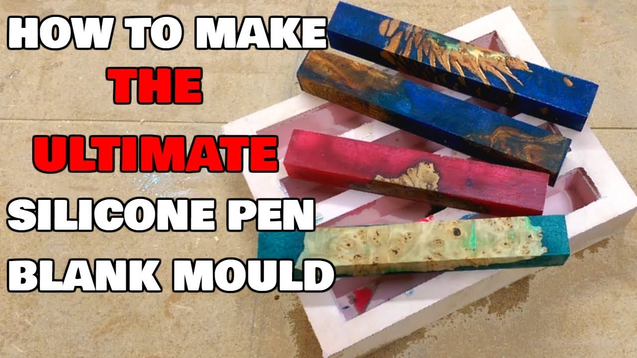 how to make a silicone pen blank mould diy mold making youtube