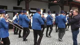 Przemarsz w Nowym Sączu 2018 Orkiestra RYTM Zembrzyce