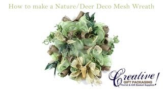 How to make a Nature/Hunting Deco Mesh Wreath!