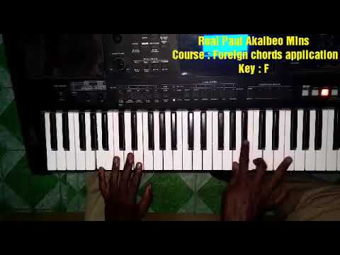 Foreign Chords Application (Ghana piano worship chords in F)