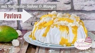 die MÜSST ihr probieren 🤤 I PAVLOVA mit Raffaello-Sahne und Mango I Rezept von Nicoles Zuckerwerk