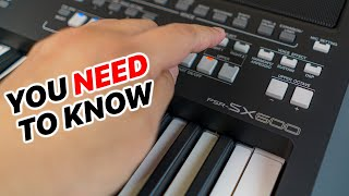 Yamaha PSR-SX600 - How to Set Up, Save Voice & Rhythms - The Essential Guide for Beginners