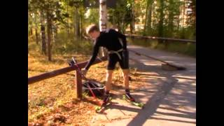 видео Лыжная подготовка. Лыжные виды спорта.