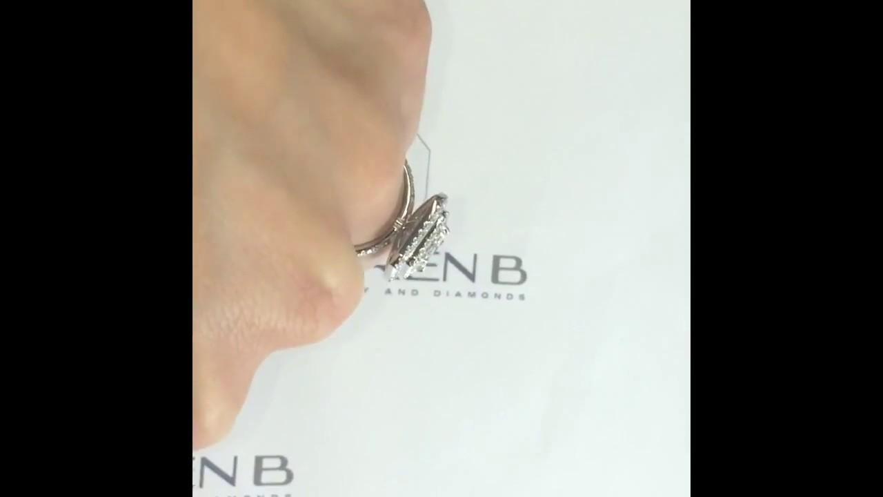 2 Carat Emerald Cut Diamond Engagement Ring Youtube