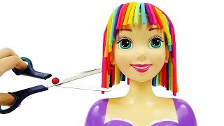 Принцесса Рапунцель Прическа радуга из пластилина Плей До для куклы принцессы Диснея