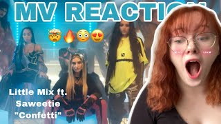 "Little Mix ft. Saweetie ""Confetti"" MV Reaction // My wig is snatched🤯😳"