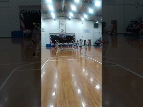 Gosnell Junior high School cheerleaders and Gosnell High school cheerleaders