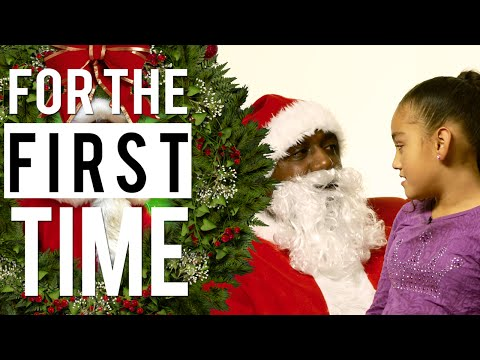 Sitting on Black Santa's Lap 'For the First Time'