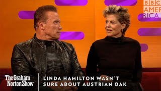Linda Hamilton Wasn't Sure About Austrian Oak | The Graham Norton Show | Friday at 11p | BBC America