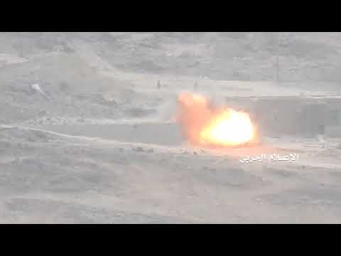 Yemen's Albyda Yemeni Joint Forces burned a military vehicle with machine gun 14  for the hypocrites