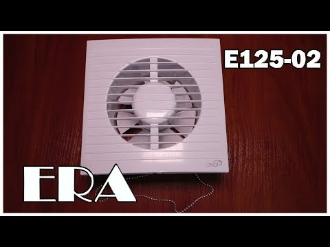 Вытяжной канальный электрический вентилятор Эра Е125-02 с двигателем на подшипниках скольжения.