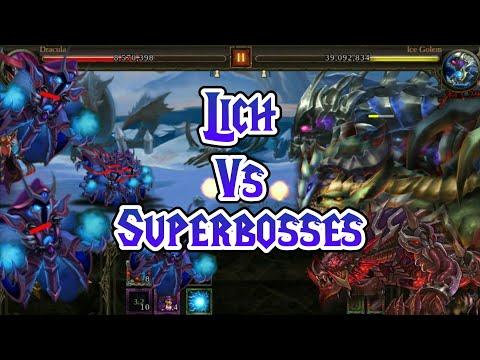 Lich Vs ALL SUPERBOSSES! Super killer unit! - Epic Heroes War Gameplay