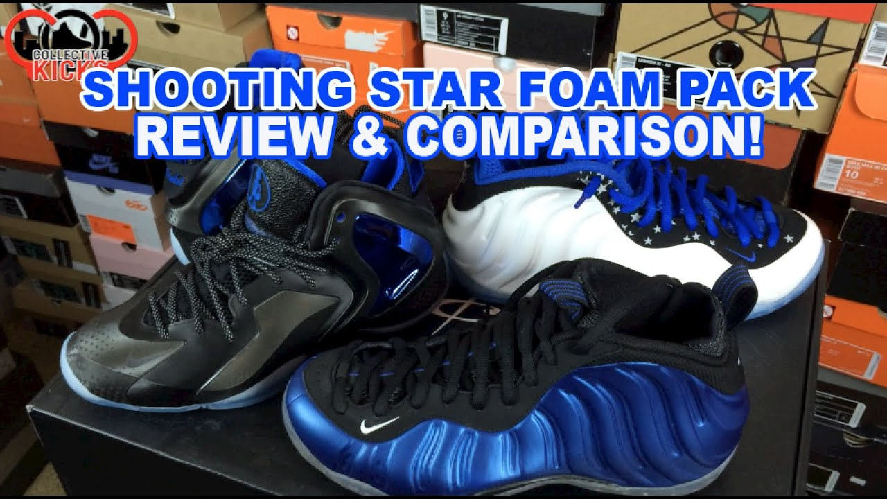 b35149ae056 Nike Shooting Star Penny Foamposite Pack Review   Comparison Royal Blue Foam    Lebron 11