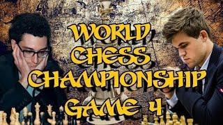 Carlsen vs Caruana  | World Chess Championship 2018 - Game 4