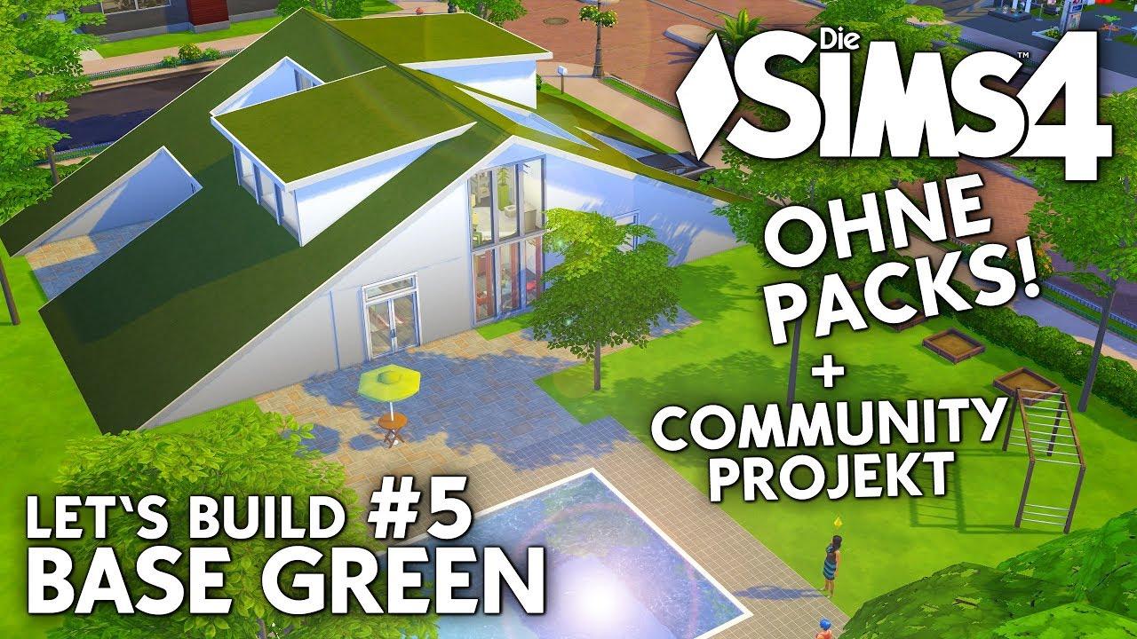 Die Sims 4 Haus Bauen Ohne Packs Base Green 5 Flur Bad