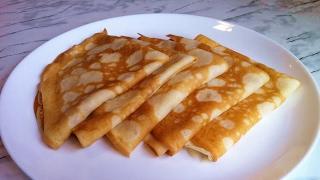 Заварные Блины на Кефире и Кипятке / Pancakes Recipe (Crepes) / Простой Рецепт (Масленица)