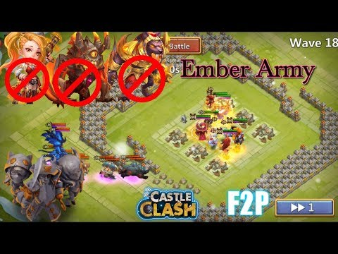 Ember Army 260Mil Damage F2P Without Ghoulem Castle Clash