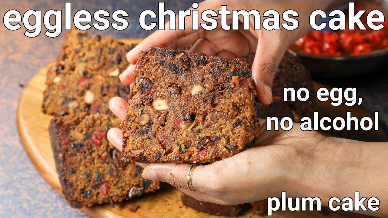 Download no egg no alcohol christmas cake recipe | eggless christmas fruit cake | kerala plum cake