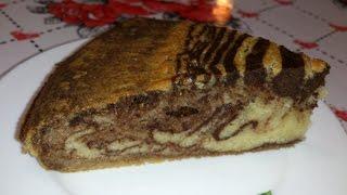 Пирог Зебра - Самый вкусный рецепт!