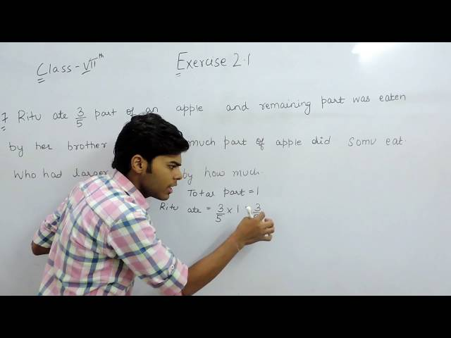 Exercise 2.1 Questions 7 - NCERT/CBSE Solutions for Class 7th Maths