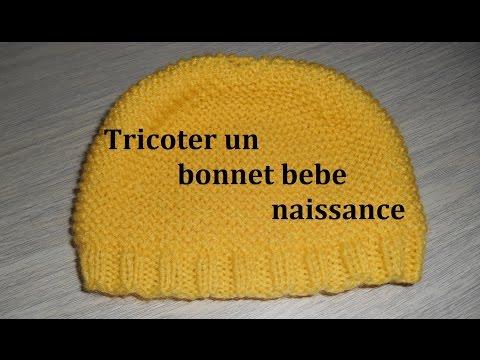Tricoter Un Bonnet Bébé Naissance Facilement Youtube