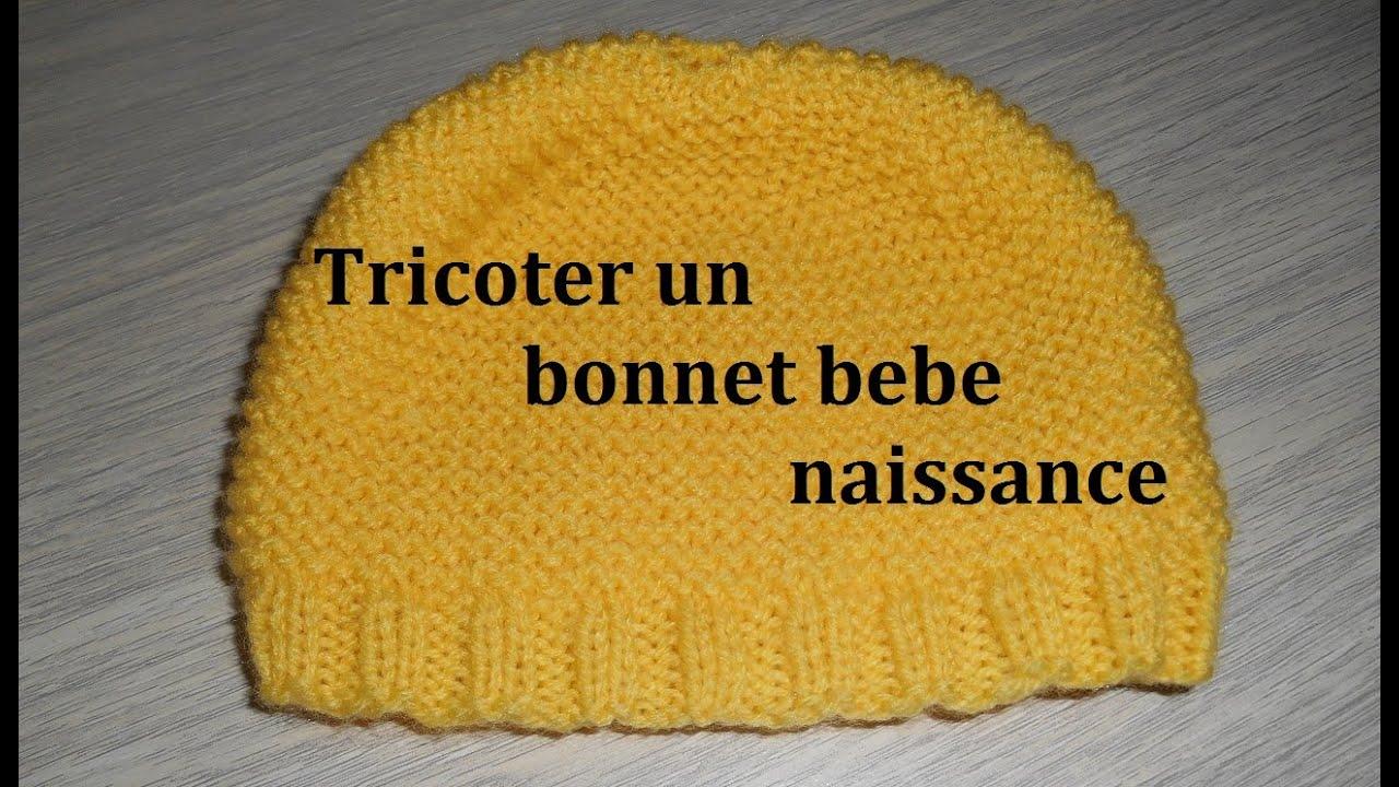 tricoter un bonnet b b naissance facilement youtube. Black Bedroom Furniture Sets. Home Design Ideas