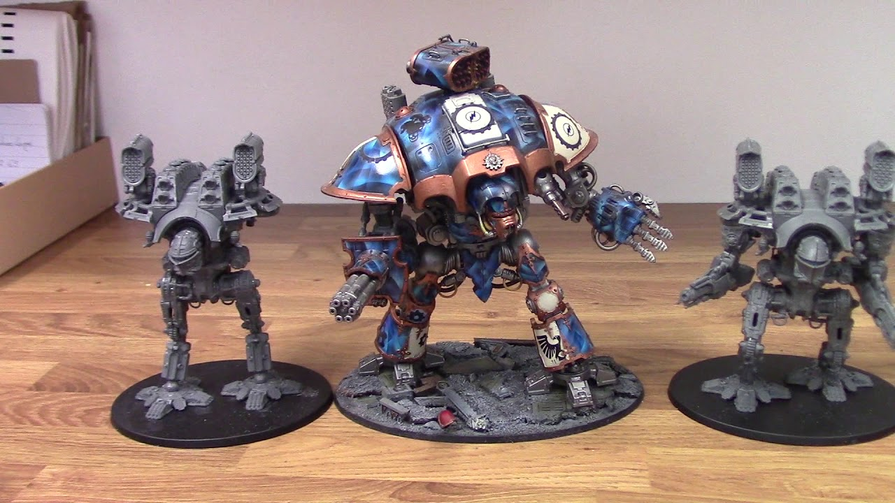 Adeptus Titanicus Size Comparison - Warlord Titans and Imperial Knights
