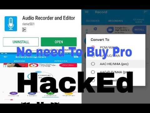 Audio Recorder And Editor pro apk download | mod apk | hack |
