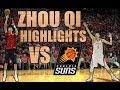 ZHOU QI 3 BLOCKS AND SENDS LEN TO THE GROUND! Zhou Qi Highlights/ Lowlights vs Suns (16.11.17)