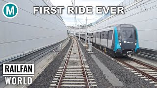 Sydney Driverless Metro | First ride Opening Day | Northwest: Tallawong to Chatswood | Cab ride | 4K