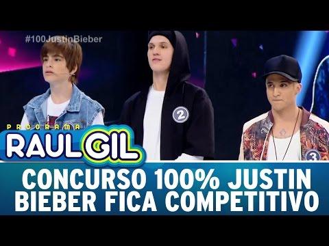 Programa Raul Gil (17/09/16) - Concurso 100% Justin Bieber tem decisão acirrada
