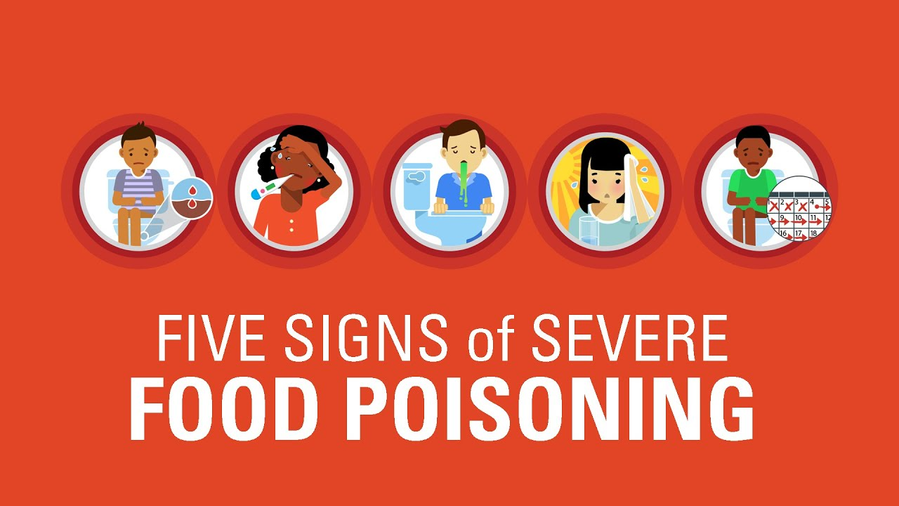 Symptoms Of Severe Food Poisoning Youtube
