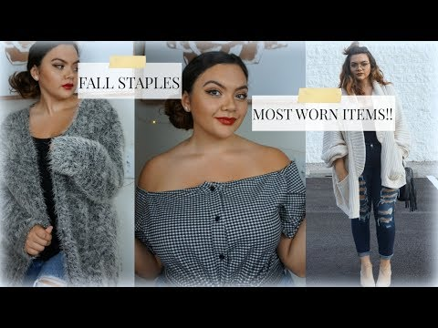 Most Worn Plus Size Fall Items
