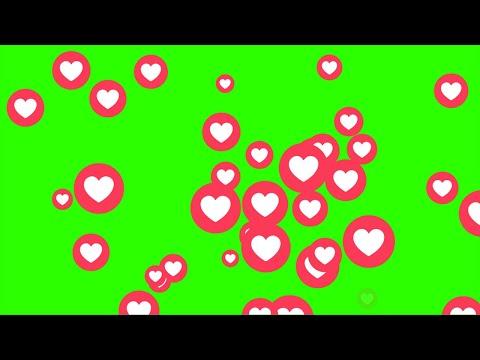 Corações Do Facebook #2 - Facebook Hearts #2 / Green Screen - Chroma Key