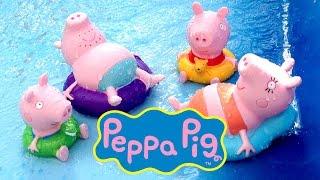Peppa Pig Bath Toys Peppa Pig Squirters Pool Party Peppa Pig Figuras de Baño Juguetes de Peppa Pig