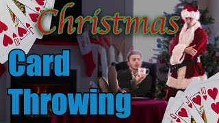Christmas CARD THROWING! (literally)