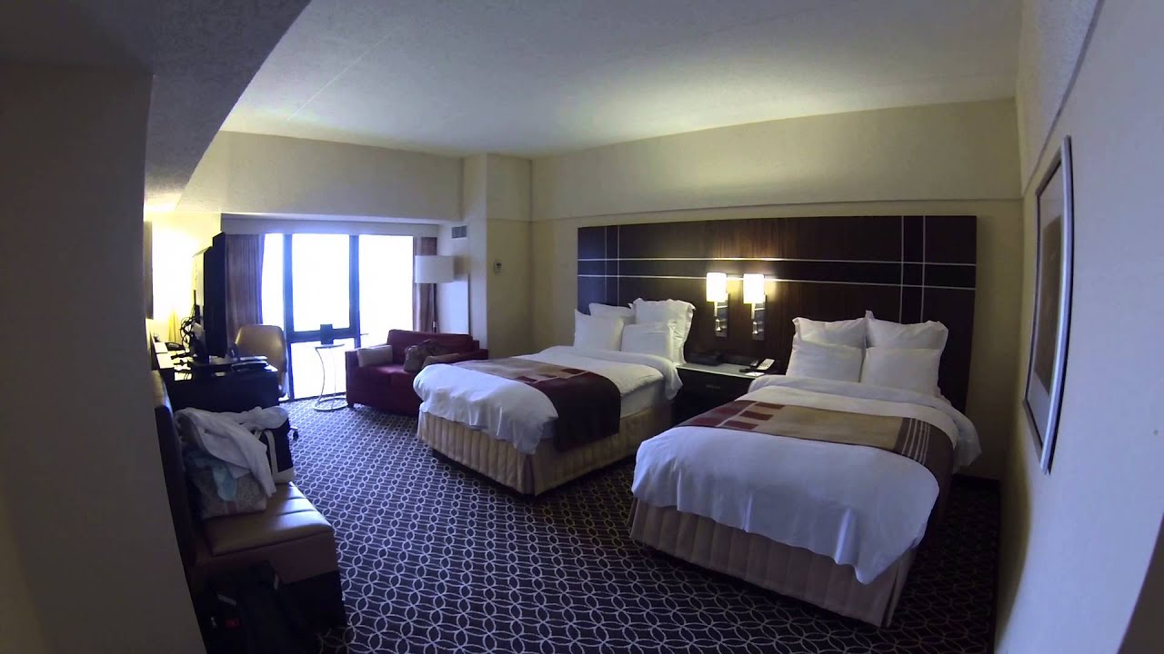 2013 New York Marriott Marquis Room Tour Hudson River View YouTube