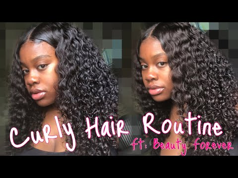 Curly Hair Routine Ft. Beauty Forever Malaysian Curly Hair!!